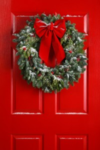 Christmas Wreath Red Door