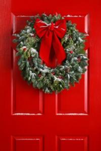 Christmas Wreath Red Door