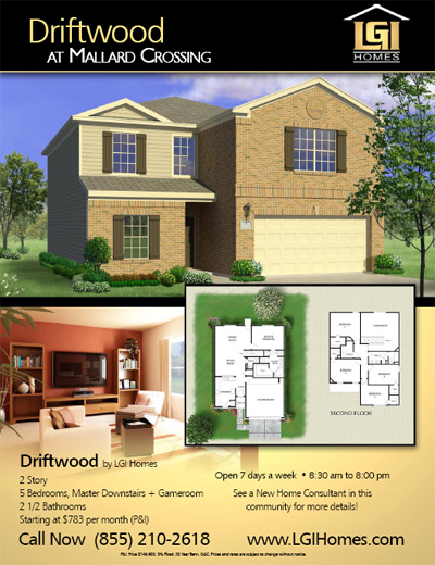 Houston Texas New Home Under $800
