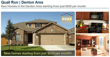 Denton Texas New Home Community - Quail Run