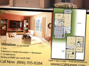 Floorplan from LGI Homes