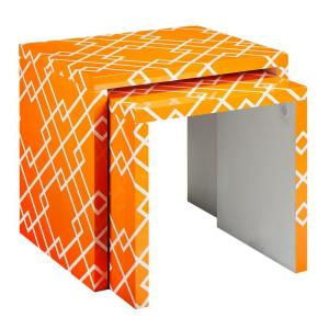 Home Decorators Collection Loft Orange Patterned