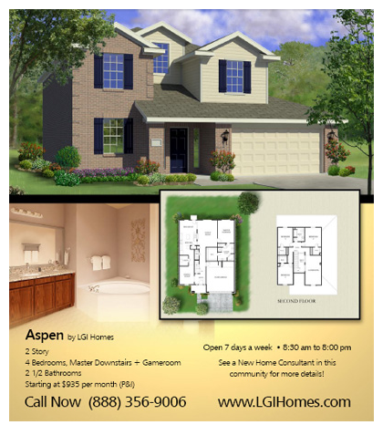 Aspen floor plan in Dallas Fortworth