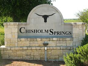 Dallas Texas Chisolm Springs Neighborhood Sign