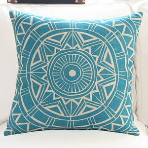 Exotic Geometric Pattern Pillow